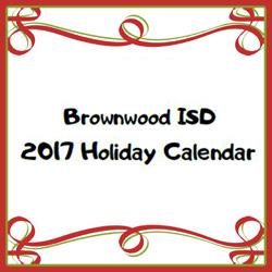 Brownwood ISD Releases 2017 Holiday Event Calendar