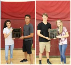 Brownwood Middle School Students Receive End-of-Year Academic Awards