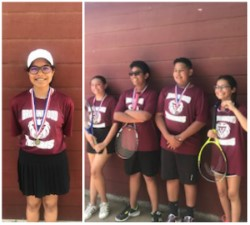 BMS Tennis Players Bring Home Medals from District Tournament