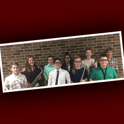 Nine BMS Students Perform in All Region Band