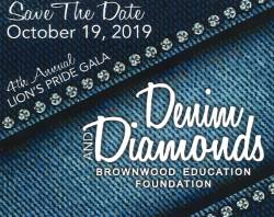 Denim and Diamonds Save the Date Graphic