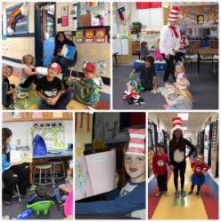 Collage from Dr. Seuss Day