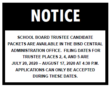 Trustee Candidate Packets Notice