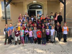 East Elementary Paw Pride and Grit Award students