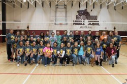 "BMS Lady Cubs Volleyball Team Presents Check from ""Diggin for a Cause"" Fundraiser"