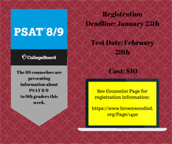 PSAT 8/9 Open to All 9th Grade Students