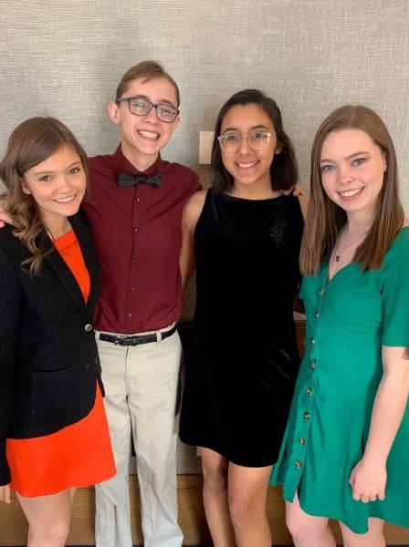 Four BHS Seniors auditioned for colleges and scholarships at the recent Texas Thespian State Competition