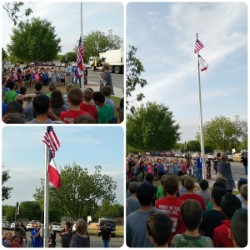 Local VFW Raises New Flags at East Elementary