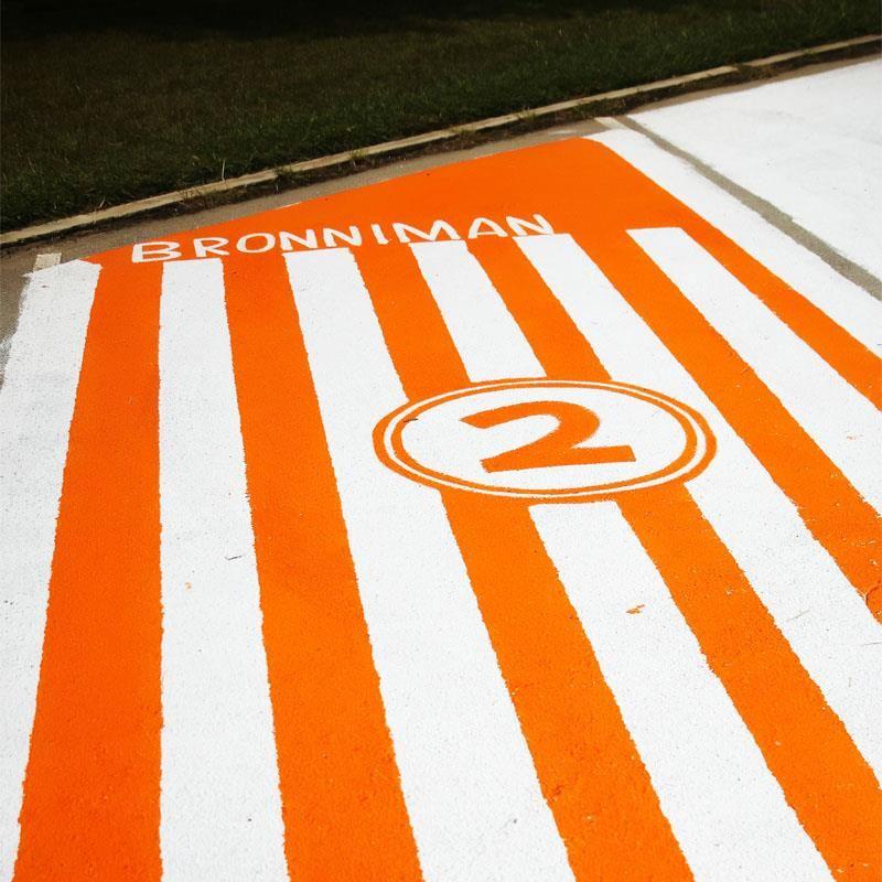 b6ea5c662f67 BHS Student Paints Senior Parking Spot Like Whataburger Logo ...