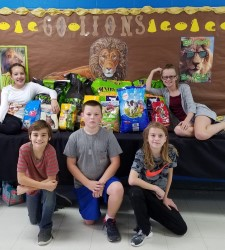 Coggin Intermediate Art Classes Collect Over 200 Cans of Food for Local Charities