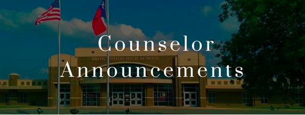 Counselor Announcements