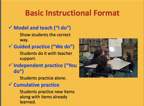 Basic Instructional Format Graphic