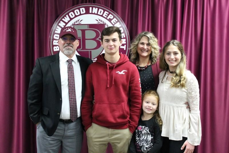 Coach Burnett and Family